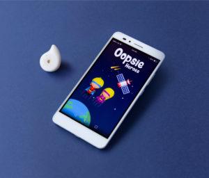 Oopsie Heroes bedwetting alarm app and device